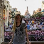 She appeared to be having a good time visiting Euro Disney. (Photo: Instagram, @crystalhefner)
