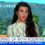 Before answering, another person in the background seemingly instructed Kourtney not to address the issue. (Photo: Screengrab, Today Extra)