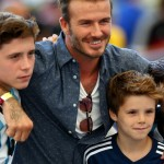 David Beckham and Brooklyn, Romeo and Cruz Beckham. (Photo: Archive)