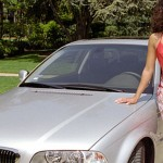 Christina Santiago in 2003: BMW 330ci. (Photo: Archive)