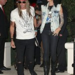 Cindy Crawford and Rande Gerber as Slash and Axl Rose in 2013. (Photo: Archive)