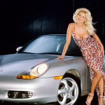 Victoria Silvstedt in 1997: Porsche Boxster. (Photo: Archive)