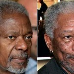 Kofi Anan and Morgan Freeman. (Photo: Archive)