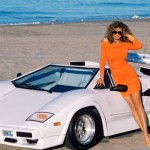 India Allen in 1988: California Countach Roadster. (Photo: Archive)