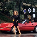 Donna Edmondson in 1987: Chevrolet Corvette. (Photo: Archive)