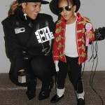 Beyoncé Knowles and Blue Ivy Carter as Janet and Michael Jackson in 2014. (Photo: Archive)