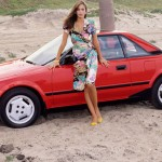 Karen Velez in 1985: Toyota MR2. (Photo: Archive)