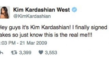 35 celebs and their 1st tweets