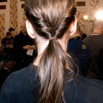 Low twisted ponytail. (Photo: Archive)