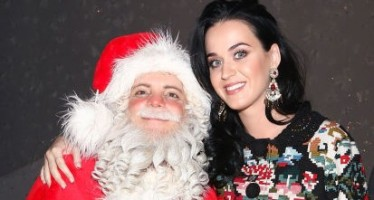 35 celebrities with Santa Claus