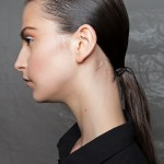 A slick, low-ponytail with a ribbon tie. (Photo: Archive)