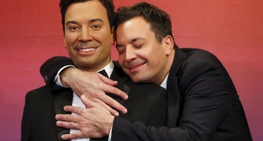 35 celebs with their wax figures