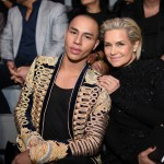 Olivier Rousteing and Yolanda Hadid attend the 2016 Victoria's Secret Fashion Show on November 30, 2016 in Paris, France. (Photo: Victoria's Secret)