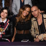 Soko, Veronica Webb and Olivier Rousteing attend the 2016 Victoria's Secret Fashion Show on November 30, 2016 in Paris, France. (Photo: Victoria's Secret)
