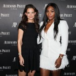 "Katie Holmes and Serena Williams attend Audemars Piguet Art Commission Presents ""Reconstruction of the Universe"" By Sun Xun. (Photo: JETSS)"