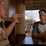 Macchio with Pat Morita in The Karate Kid. (Photo: Archive)