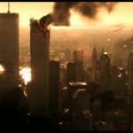 "The WTC taking a hit in ""Armageddon"" before the real-life terror attack. (Photo: Youtube/Reproduction)"