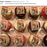"Hugh Jackman "" The Greatest Showman"" cupcakes. (Photo: Twitter)"
