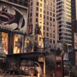 "A Batman vs. Superman ad in ""I Am Legend."" (Photo: Archive)"