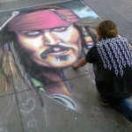 A street artist's painting of Jack Sparrow. (Photo: Archive)
