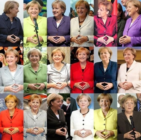 German Chancellor Angela Merkel, and her favorite diamond. (Photo: Twitter/Reproduction)