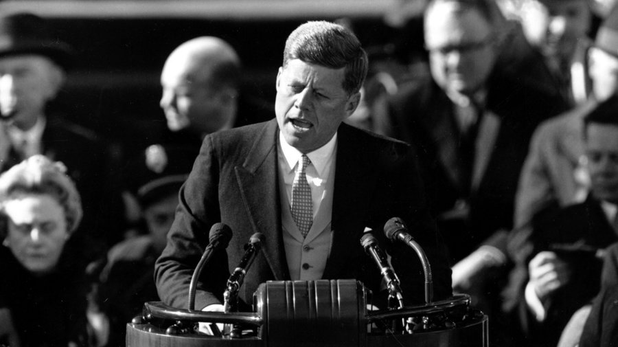 "John F. Kennedy gave a rousing Inaugural speech, declaring that ""the torch has been passed to a new generation"" of Americans. (Photo: Archive)"