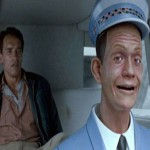 "The Uber-creepy driverless cars of ""Total Recall."" (Photo: Archive)"