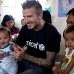 David Beckham greets children on behalf of Unicef. (Photo: Wikimedia)