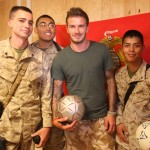 Beckham with troops in Afghanistan. (Photo: Flickr)