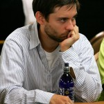 Tobey Maguire and Matt Damon were each accosted by authorities for their roles in running high-stakes underworld poker dens. (Photo: Twitter)