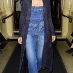 Bella in the denim outfit. (Photo: Twitter)