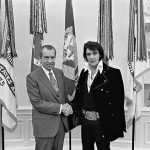 Elvis with President Nixon. (Photo: Wikimedia)
