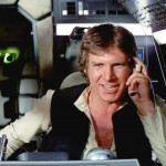 """Harrison Ford as interplanetary pilot Han Solo in """"Star Wars."""" (Photo: Twitter)"""