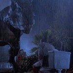 One of the most morbidly funny scenes in Jurassic Park is the moment where Martin Ferrero's character, Donald Gennaro, is eaten by the T-rex while on the toilet. The sound was simply a happy horse munching on a corncob. (Photo: Universal Studios/Release)