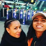 "Responding to what she says are ""death threats"" made against her by her now-ex, Mel calmly sought a restraining order and took a much-deserved vacation with daughter Phoenix. (Photo: Twitter)"