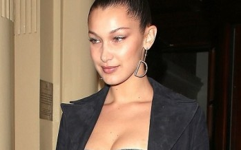 Bella Hadid Blows Away Paparazzi In New Denim Corset