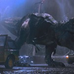 The designers used a combination of the squeal of a baby elephant, an alligator's gurgling, and a tiger's growl for the chilling roar of the T-rex (Photo: Universal Studios/Release)