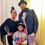 Carmelo and La La with their son, Kiyan. (Photo: Twitter)