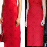 Versions of Melania's red outfit. (Photo: Shutterstock)