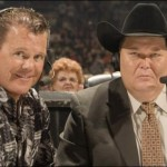 "Jim Ross and Jerry ""The King"" Lawler played themselves in Jim Carrey's Andy Kaufman biopic ""Man on the Moon."" (Photo: Twitter)"