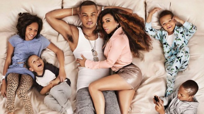 "T.I. with wife Tameka ""Tiny"" Cottle and family. (Photo: Twitter)"