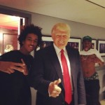 The Donald responds to photobomb with typical lameness (Photo: Instagram)