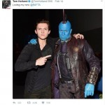Tom Holland and Michael Rooker (Photo: Twitter)
