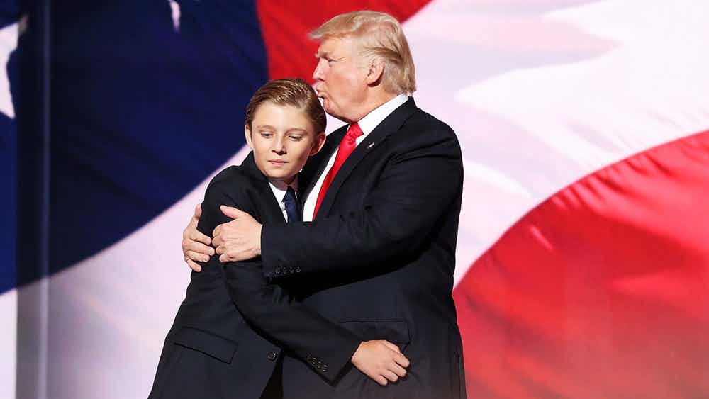 "Much Like His Father - According to his mother, Barron is just like his father. Melania once said Melania said: ""He is a very strong-minded, very special, smart boy. He is independent and opinionated and knows exactly what he wants. Sometimes I call him little Donald. He is a mixture of us in looks, but his personality is why I call him 'Little Donald'."" (Photo: Archive)"