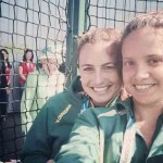 Queen Elizabeth II sneaks up on a selfie at this year's Commonwealth Games. (Photo: Instagram)