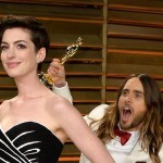 Jared Leto spooks Anne Hathaway in Oscars photobomb (Photo: Archive)
