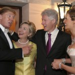 Bill and Hillary Clinton attended her wedding with Donald Trump. (Photo: Archive)