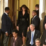 A Michael Kors skirt suit for a joint address to Congress. (Photo: Archive)