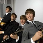 The image also included four wax Beatles, borrowed by Madame Tussauds' museum in London. (Photo: Archive)