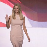Ivanka opted for a fitted blushed dress for introducing her father as the COP nominee. (Photo: Archive)